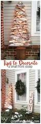 how to decorate a small front stoop for christmas create and babble