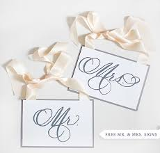 Mr And Mrs Sign For Wedding Free Mr And Mrs Signs