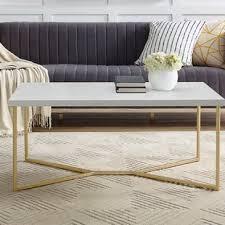 marble gold coffee table gold marble coffee tables you ll love wayfair