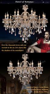 Chandelier Dance Ceiling Lights Chandelier Crystal Cognac Color Luxury Modern 2
