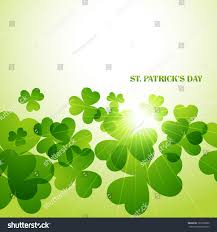 beautiful st patricks day shamrock leafs stock vector 127692002