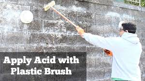 cleaning a stone fireplace how to clean efflorescence off stone by home repair tutor youtube