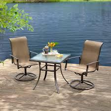 Bistro Patio Sets Essential Garden Fulton 3pc Bistro Set Outdoor Living Patio