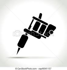 tattoo gun sketch illustration of tattoo machine on white background clipart vector