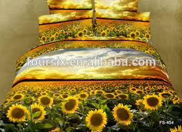 Sunflower Bed Set Four Six Sale 3d Sunflower Reactive Printing Bed Cover Bed