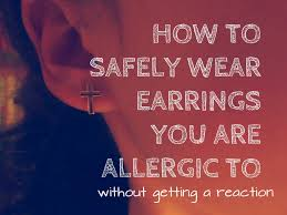 allergy earrings how to wear earrings you are allergic to 4 steps