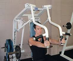 Seated Bench Press Performing The Seated Machine Chest Press
