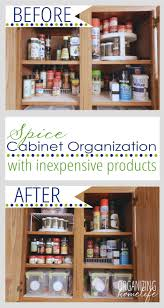 how to store food in cupboards how to organize your spice cabinet organize your kitchen