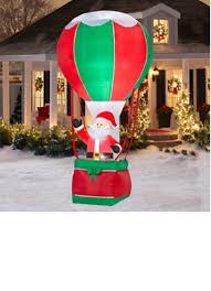 amazon com 12 ft santa inflatable in air balloon holiday