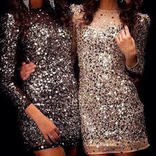 gold dresses for new years party glitter sleeved dress party