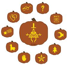 Happy Halloween Icons 12 Free Diy Bill Cipher Gravity Falls Jack O Lantern Stencils