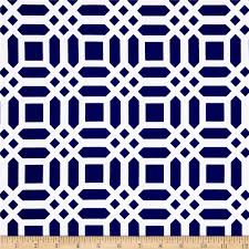 Discount Home Decor Fabric by Riley Blake Home Decor Vivid Lattice Navy Discount Designer