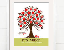 Personalized Pictures With Names Personalized Teacher Gift
