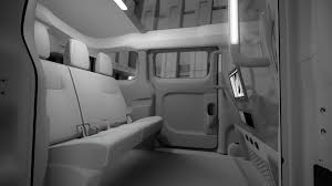 nissan van interior new york hails nissan for its new cabs cnet