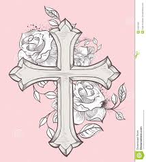 pix for cross with roses and tattos i 3