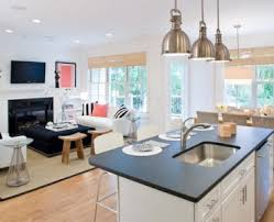 Colonial Kitchen Design Chic And Trendy Kitchen Living Room Design Kitchen Living Room