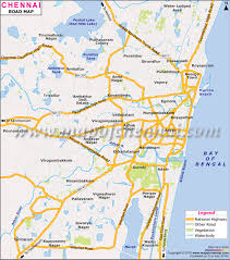 map on road chennai road network map