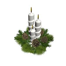 christmas floral arrangement with candles design and decorate