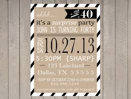 free printable surprise party invitation templates party