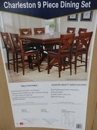 charleston 9 piece counter height dining set charleston counter height dining set costco
