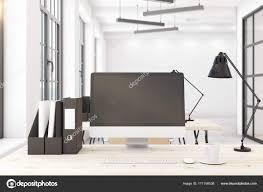 pc bureau avec ecran ordinateur de bureau avec écran pc blanc photographie peshkova