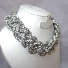 necklace elegant images Elegant braided swarovski element crystal choker necklace jpg