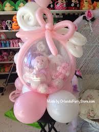 teddy in a balloon gift regalo de globo relleno con osito para baby shower gift filled