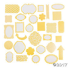 yellow monochromatic die cut shapes trading discontinued