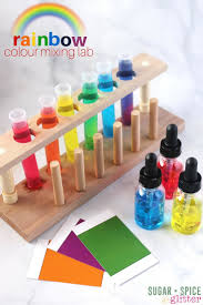 rainbow colour mixing lab sugar spice and glitter