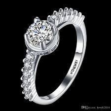 real diamond engagement rings 2017 2016 new 18krgp st real gold ring 0 6 ct sona cz diamond