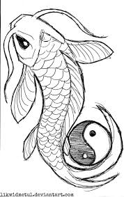 outline yin yang koi design tattooshunter com