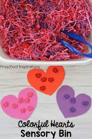 colorful hearts sensory bin for valentines day 4 jpg