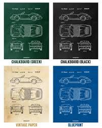 porsche 911 poster porsche 911 964 carrera coupe car poster patent print wall art gift