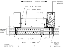 Ceiling Access Doors by Acoustical Door U0026 Pre Engineered Acoustical Doors