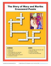 mary martha home decor mary and martha crossword puzzle bible activities for children