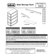 Edsal Shelving Parts by Shelving Units And Storage Warehouse Racks Industrial Organizer