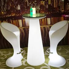stand up bar table h47 inches waterproof wireless eat standing light led up colorful