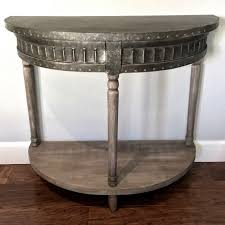 Half Moon Side Table Metal And Wood Half Moon Side Table Antique Farmhouse