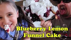 disneyland blueberry lemon funnel cake youtube