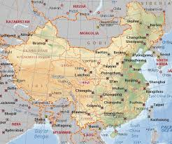map of china and cities geographical political physical maps of china with land features