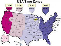 map showing time zones in usa us state map with time zones