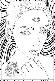 woman coloring pages for adults justcolor