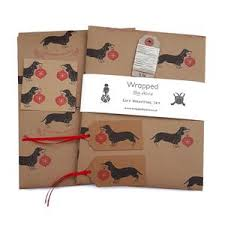 dachshund christmas wrapping paper sale rhubarb and co
