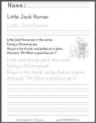 little tommy grace nursery rhyme worksheets four worksheets
