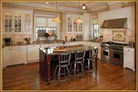 Antique White Kitchen Cabinets by Cherry Kitchen Cabinets With White Island Titandish Decoration