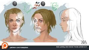 basic female portrait painting tutorial