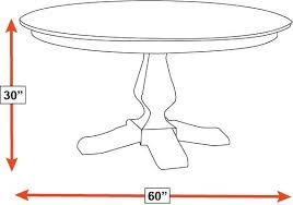 30 X 60 Dining Table Weston 60