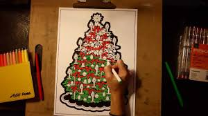 timelapse coloring of our christmas tree line art coloring poster