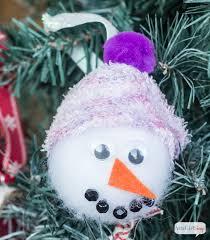 no sew snowman ornaments atta says
