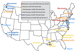 West Coast United States Map by United States Container Ports Wikipedia